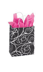 Medium Elegant Swirl Paper Bags - Case of 100