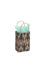 Small Distressed Damask Paper Bags - Case of 100