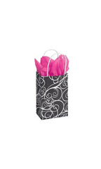 Small Elegant Swirl Paper Shopping Bags - Case of 25