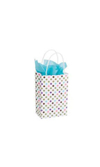 Small Playful Polkadot Paper Bags - Case of 25