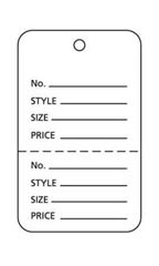 Small Unstrung White Perforated Coupon Tags - Case of 1,000