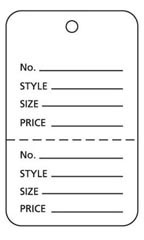 Large Unstrung White Perforated Coupon Price Tags