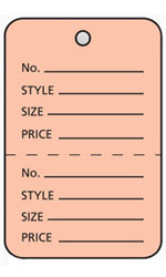 Large Unstrung Pink Perforated Coupon Price Tags