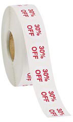 Self-Adhesive 30% Off Discount Labels