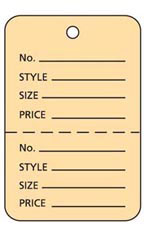 Large Unstrung Buff Perforated Coupon Price Tags