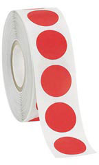 Self-Adhesive Red Labels