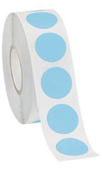 "Blue Self-Adhesive Labels - ¾"" Diameter Circle - Roll of 1,000"