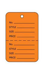 Small Unstrung Orange Perforated Coupon Tags - Case of 1,000
