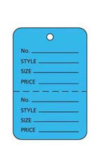 Small Unstrung Blue Perforated Coupon Tags - Case of 1,000