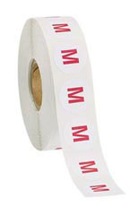Size M Self-Adhesive Size Labels - Roll of 1,000