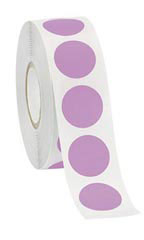 "Lavender Self-Adhesive Labels - ¾"" Diameter Circle - Roll of 1,000"