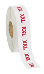Size XXL Self-Adhesive Size Labels - Roll of 1,000