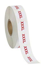Size XXXL Self-Adhesive Size Labels - Roll of 1,000