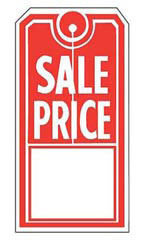 Red/White Sales Price Slit Tags
