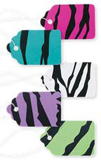 Boutique Strung Bright Zebra Print Paper Price Tag Assortment