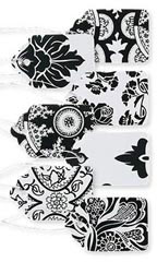 Boutique Strung Black and White Lace Paper Price Tag Assortment