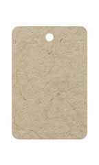 Small Unstrung Kraft Non-Perforated Blank Tags - Case of 500