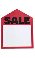 Large Oversized Red Sale Price Tags