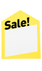 Large Oversized Modern Yellow Sale Price Tags