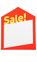 Large Oversized Modern Red Sale Price Tags