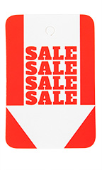 Unstrung Red/White Sale Sale Sale Sale Non-Perforated Price Tags