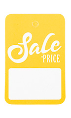 Boutique Yellow/White Sale Price Non-Perforated Price Tags