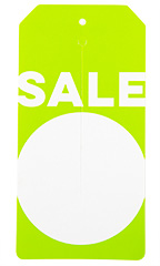 Green Modern Sale Slit Tags