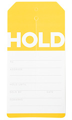 Yellow Modern Hold Slit Tags