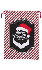 Merry Christmas Santa Drawstring Bag