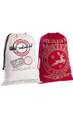 Reindeer Mail/Red Reindeer Mail Drawstring Bags - Pack of 2