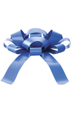 30 inch Blue Magnetic Car Bow