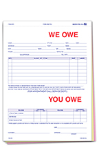 3-Part We Owe You Owe Forms