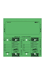 Green Stock Number Key Tag Set