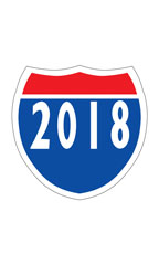 "Interstate Sign Windshield Stickers - ""2018"""