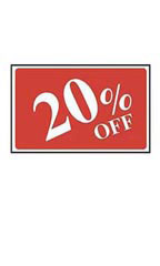 20% Off Rectangle Sign Card