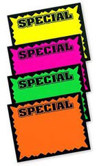 Small Colored Special Single-Sided Sign Cards