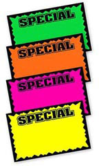 Large Colored Special Single-Sided Sign Cards