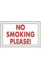 No Smoking Please! Policy Sign Card