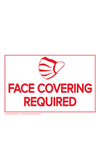 Face Covering Required Policy Sign Card