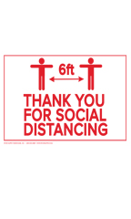 Thank You For Social Distancing Policy Sign Card