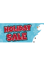 Large Holiday Sale Banner