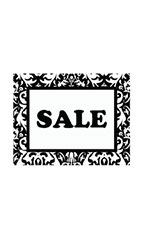Small Boutique Black Damask Sign Cards