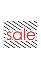 Small Sale Sign Card - Diagonal Stripes