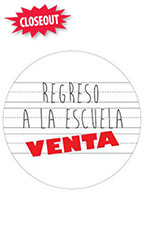 Circle Regreso A La Escuela Venta Sign Cards
