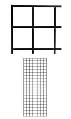 2 x 5 foot Black Wire Grid Panel