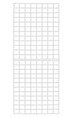 2' x 6' White Ready to Assemble Wire Grid Panels