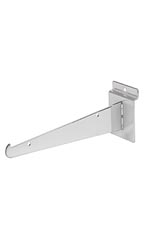 8 inch Chrome Shelf Bracket for Slatwall
