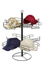 2-Tier Rotating Countertop Cap Rack