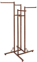 Boutique Cobblestone 4-Way Clothing Rack with Straight Arms