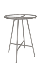 Boutique Raw Steel Collapsible Round Clothing Rack